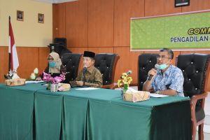 Pembinaan PA Wilayah IV Melalui Virtual Meeting